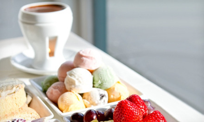 Capstone Tea & Fondue - Downtown Vancouver: $24.95 for a Cheese and Dark Chocolate Fondue for Four at Capstone Tea & Fondue ($49.90 Value)