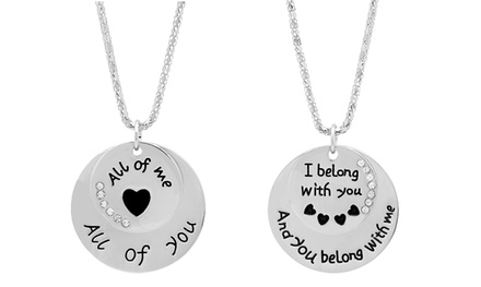 Love Quote Pendants with Swarovski Elements