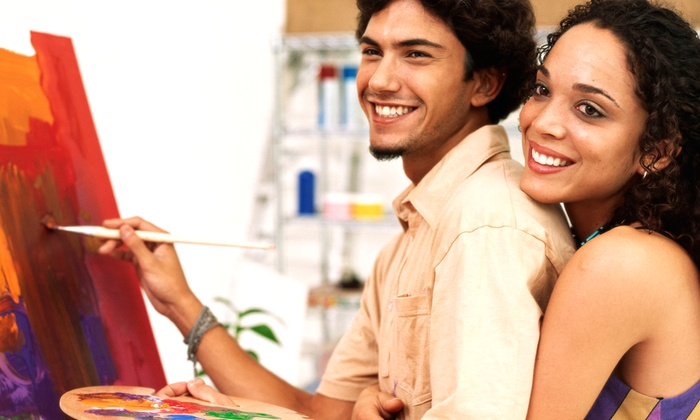 Painter's Palette - South Jordan: $41 for Painting Date Night Out at Painter's Palatte ($70 Value)