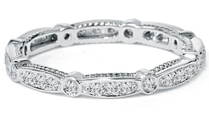 1/2 Cttw Diamond Eternity Band In 14k White Gold By Bliss Diamond