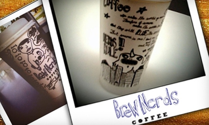 Brew Nerds - Multiple Locations: $7 for Punch Card for 11 Medium Coffees at Brew Nerds in Winston-Salem ($21 Value)