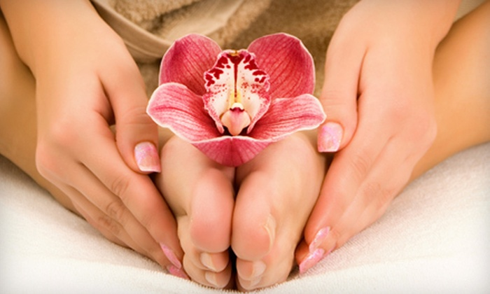 E Nails - Carlton: $26 for a Deluxe Spa Manicure and Pedicure at E Nails in Placentia ($53 Value)