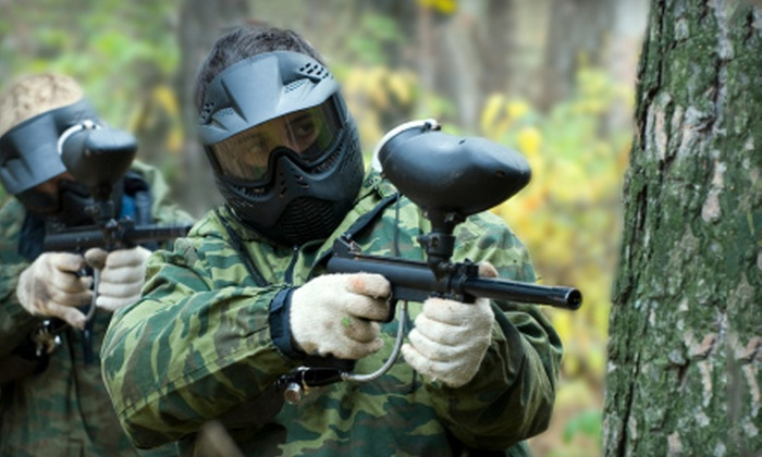 Route 40 Paintball Park - White Marsh: All-Day Paintball Session Including 500 Paintballs with or without Rental Gear at Route 40 Paintball Park in White Marsh