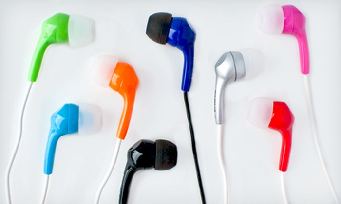 In-Ear Polaroid Headphones: $12 for Two Sets of Polaroid Pebble Stereo In-Ear Headphones ($30 Value). Shipping Included. Eight Colors Available.
