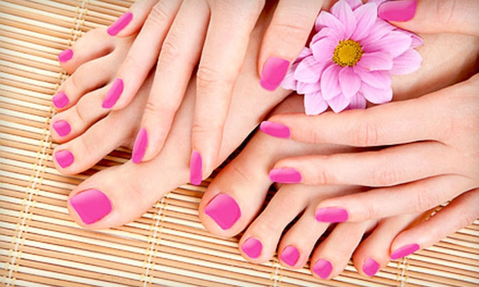 Angeltips - Oceanside: $35 for a Manicure and Deluxe Pedicure Package at Angeltips in Oceanside ($78 Value)