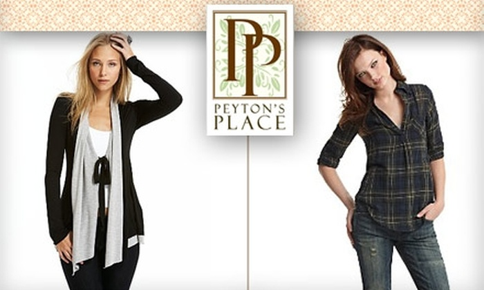 Peyton's Place - Downtown: $49 for $100 Worth of Boutique Fashions at Peyton's Place