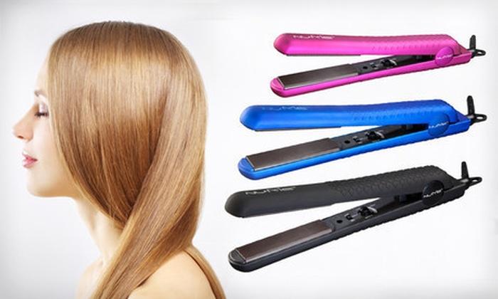 NuMe Silhouette Flatiron: $55 for a NuMe Silhouette Flatiron in Black, Blue, Fuchsia, or Purple ($165 List Price)