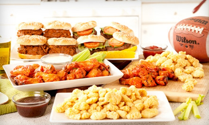Football Party Platter : $49 for an All-American Party Platter ($129 Value). Shipping Included.