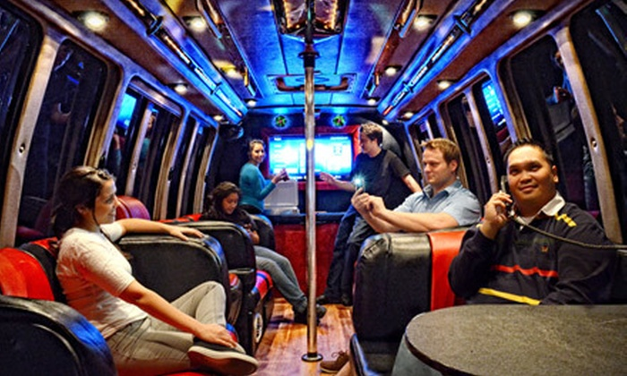 Alamo Drafthouse - Uptown Loop: Three-Hour Luxury Party-Bus Rental for Up to 16 from Alamo Drafthouse (Up to 67% Off). Two Options Available.