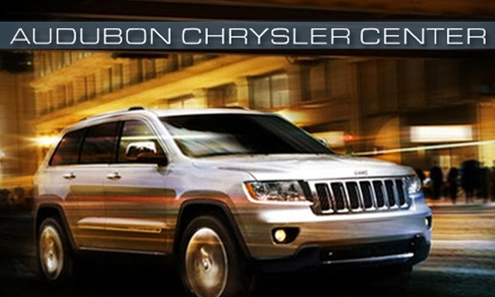 Audubon Chrysler Center - Henderson: $30 for Two Oil Changes and 35-Point Vehicle Inspections, Plus One Tire Rotation at Audubon Chrysler Center in Henderson ($89.03 Value)