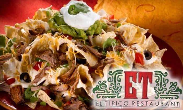 El Tipico - Southside: $10 for $20 Worth of Authentic Mexican Fare and Drinks at El Tipico