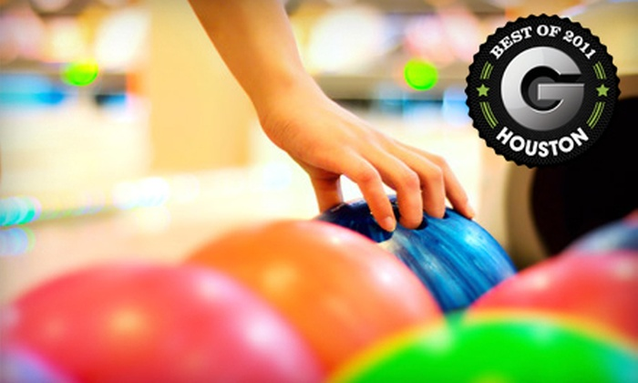 Del-Mar Lanes - Spring Branch East: One- or Two-Hour Bowling Outing for Up to Five with Shoe Rentals and Refreshments at Del-Mar Lanes (Up to 58% Off)