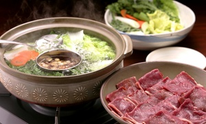 Tokyo Japanese Steakhouse: Shabu-Shabu Cuisine for Two, or Japanese Cuisine for Two at Tokyo Japanese Steakhouse (Up to 45% Off)