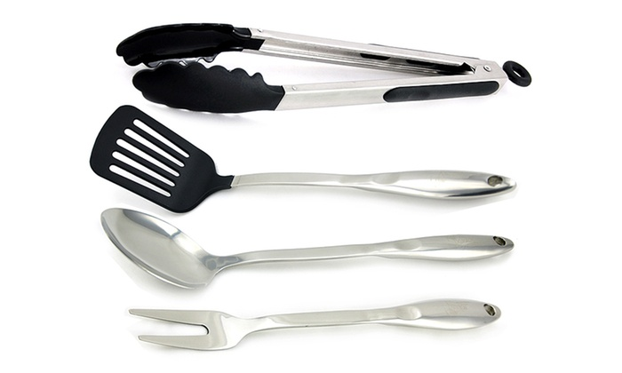 Kevin Dundon 4-Piece Stainless Steel Kitchen Utensil Set: Kevin Dundon 4-Piece Stainless Steel Kitchen Utensil Set. Free Shipping and Returns.