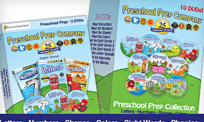 3 or 10 Preschool Prep DVDs: 3 or 10 Preschool Prep DVDs (Up to 62% Off)