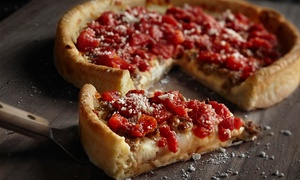 UNO Pizzeria & Grill: One or Two Deep Dish Pizzas with Two or Four Glasses of Beer or Wine at UNO Pizzeria & Grill (Up to 38% Off)