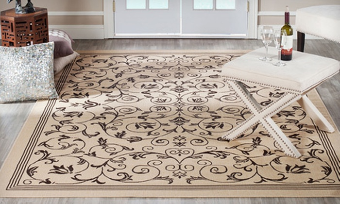 Two Safavieh Indoor/Outdoor Rugs: $99 for Two Safavieh Indoor/Outdoor Rugs. Shipping Included (Up to $239 Value).