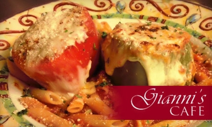 Gianni's Cafe - Multiple Locations: $15 for $30 Worth of Italian Fare and Wine at Gianni's Cafe