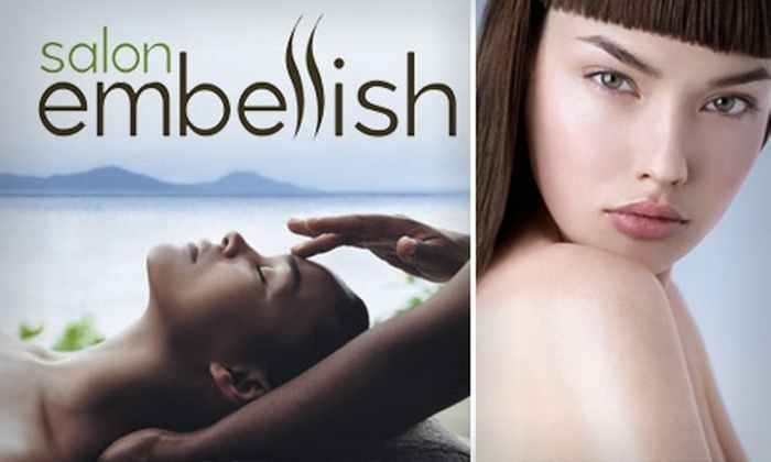 Salon Embellish - Encanto: $39 for a 60-Minute Swedish Massage, Shampoo, and Style at Salon Embellish ($75 Value)