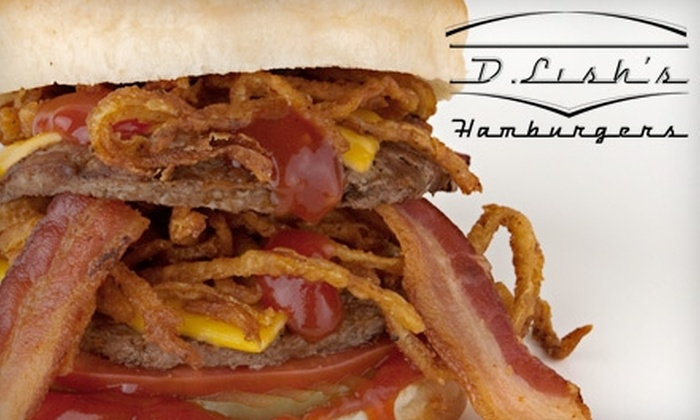 D. Lish's Great Hamburgers - Emerson Garfield: $5 for $10 Worth of Burgers, Shakes, and More at D. Lish's Great Hamburgers