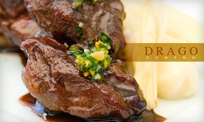 Drago Centro - Downtown Los Angeles: $30 for $60 Worth of Upscale Italian Cuisine and Drinks at Drago Centro