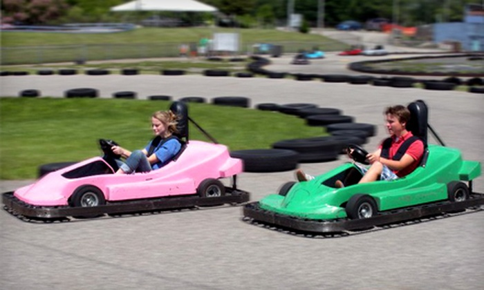 Playland Fun Center - Grand Blanc: $22 for a Go-Kart and Mini-Golf Outing for Four at Playland Fun Center in Grand Blanc (Up to $48 Value)