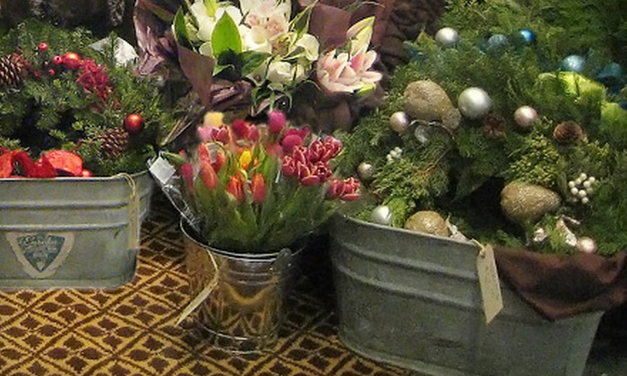 Flowers by Jenna - St. Albert: Custom Holiday Wreath or $20 for $40 Worth of Flowers and Gift Baskets at Flowers by Jenna in St. Albert