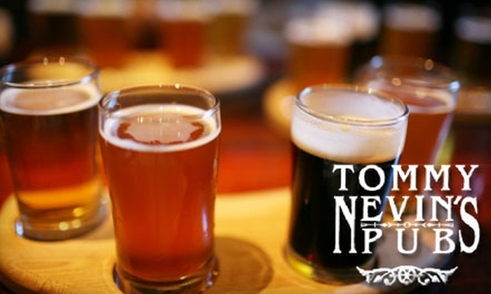 Tommy Nevin's Pubs - Multiple Locations: $10 for $20 Worth of Irish Fare and Drinks at Tommy Nevin's Pub, The Kerry Piper, or Muldoon's