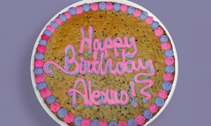 The Cookie Store - Multiple Locations: $12 for a 16-Inch Round Cookie Cake at The Cookie Store ($23.95 Value)