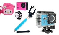 HD Action Camera Bundle with Optional SD Card from AED 169 (Up to 55% Off)