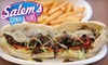 Salem's Gyros & Subs - CORPORATE (all locations) - Oneco: $7 for $15 Worth of Gyros, Sandwiches, Drinks, and More at Salem's Gyros & Subs