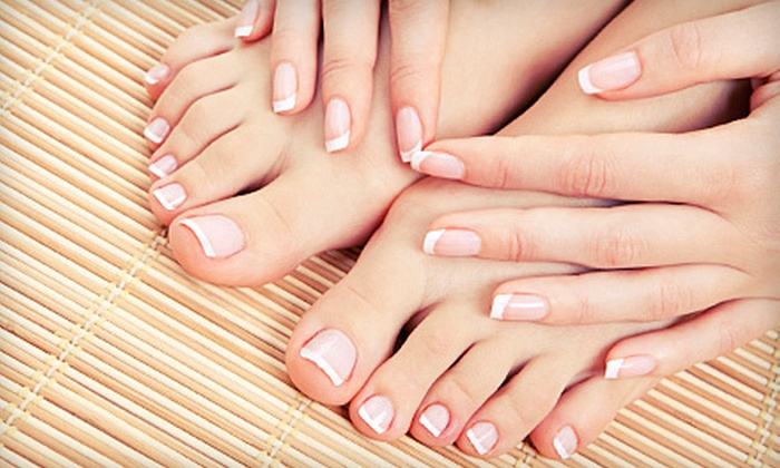 Salon DG - Fresno High-Roeding: One or Two Mani-Pedis at Salon DG (Up to 64% Off)