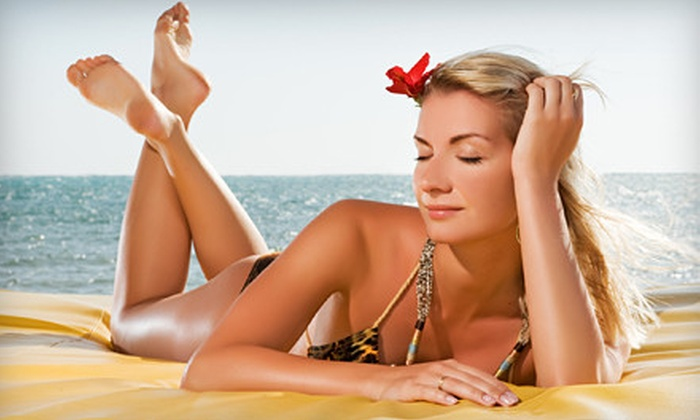 HealthiTan - Raintree: One, Two, or Three Custom Spray Tans or Two Months of Unlimited Spray Tans at HealthiTan in Olathe (Up to 69% Off)