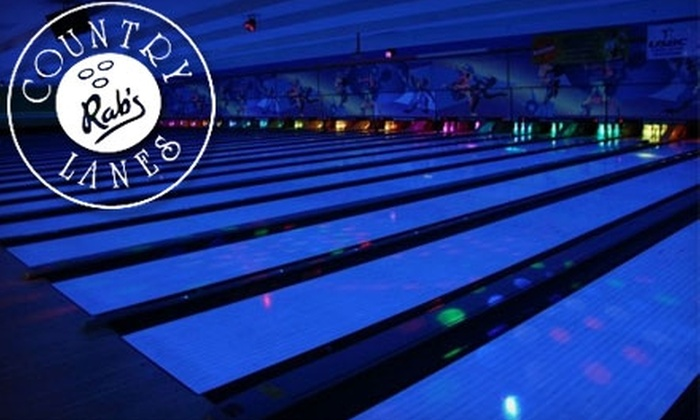 Rab's Country Lanes - South Beach / Old Town: $25 for Two Hours of Cosmic Bowling Plus Rental Shoes for Up to Six People at Rab's Country Lanes in Staten Island (Up to $82 Value)