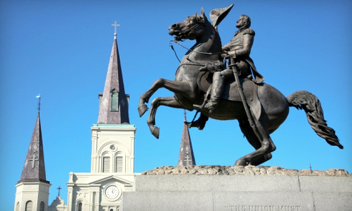 Cajun Tours and Cruises - Mid-City: Guided Step-Aboard Tour of New Orleans for Two or Four from Cajun Tours and Cruises (Half Off)