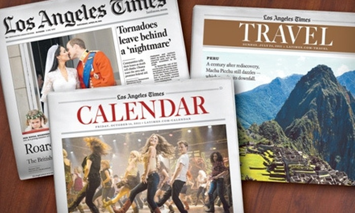 """Los Angeles Times"" - Poway: 52-Week Subscription to the Sunday or Thursday–Sunday Edition of the ""Los Angeles Times"" (Up to 81% Off)"