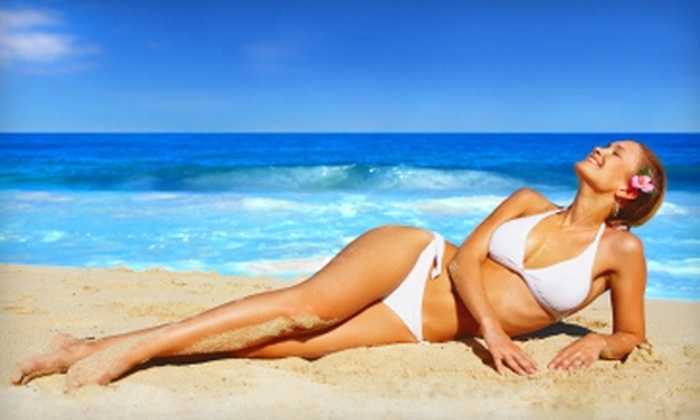 Heavenly Glows - Seminole Towne Center: $19 for an Organic Airbrush Tan at Heavenly Glows in Sanford ($40 Value)