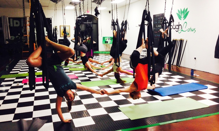 Tough Lotus - Chandler: Three or Six Aerial-Fitness Classes at Tough Lotus (51% Off)