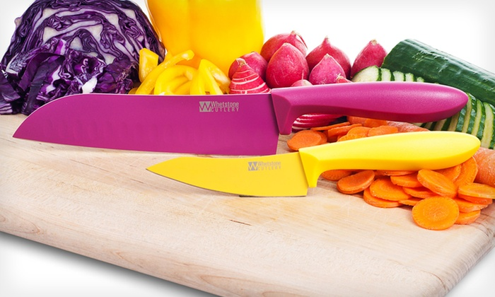 Whetstone 2-Piece Kitchen Knife Set: $7.99 for a Whetstone 2-Piece Stainless-Steel Kitchen Knife Set ($19.99 List Price). Free Returns.