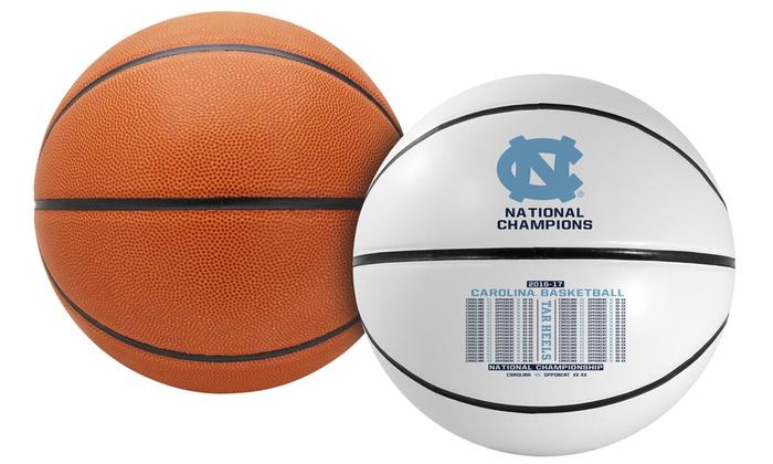 NCAA 2017 National Champions North Carolina Full-Size Basketball with Autograph Pen