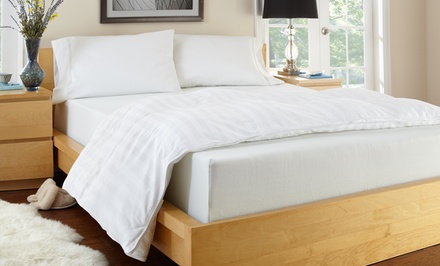 "groupon daily deal - PuraSleep Serenity Gel Enhanced 10"" Memory-Foam Mattress. Multiple Sizes from $329.99–$449.99. 20-Year Warranty."
