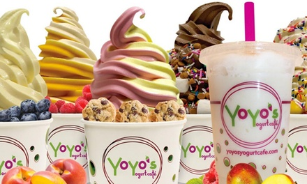 $11 for Two Groupons, Each Good for $10 Worth of Frozen Yogurt and Toppings at YoYo's Yogurt Cafe ($20 Total Value)