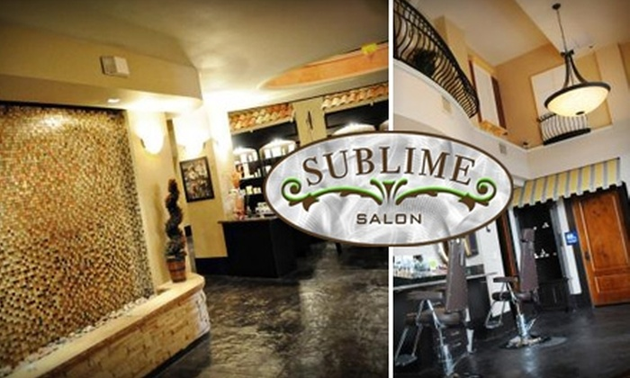 Sublime Salon - New Tacoma: $56 for a Haircut, Deep Conditioner Treatment, and Makeup Application at Sublime Salon ($112 Value)