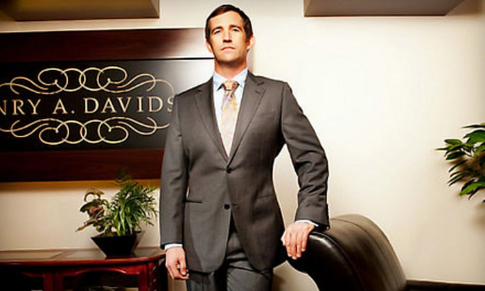 Henry A. Davidsen - Rittenhouse: Black or Blue Label Custom Suit Package at Henry A. Davidsen (Up to 54% Off)