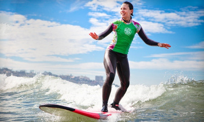Surf Diva - La Jolla Shores: Coed Group Surf Lesson or Two-Day Women's Weekend Surf Clinic at Surf Diva in La Jolla (Up to Half Off)