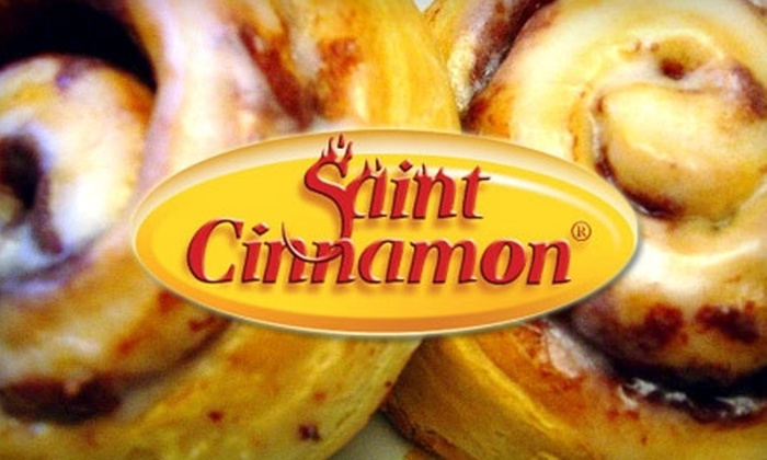 Saint Cinnamon  - Multiple Locations: $7 for 12 Small Cinnamon Rolls at Saint Cinnamon ($14.99 Value)