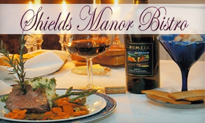 Shields Manor Bistro - Platte City: $25 for $50 Worth of Upscale Cuisine at Shields Manor Bistro in Platte City