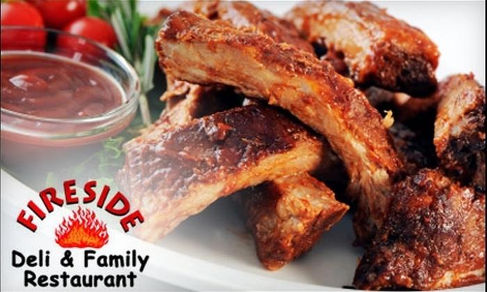 Fireside Deli & Family Restaurant - Laurentian Hills: $7 for $15 Worth of Home-Style Fare at Fireside Deli & Family Restaurant in Kitchener