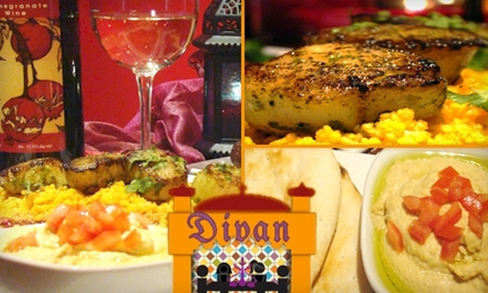 Divan Restaurant and Hookah Lounge - Peachtree Park: $15 for $30 Worth of Mediterranean Fare, Drinks, and Hookah at Divan Restaurant and Hookah Lounge