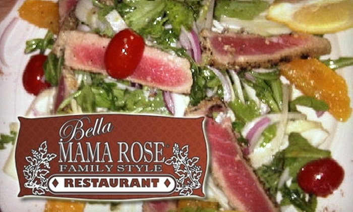 Bella Mama Rose - Mariners Park: $12 for $25 Worth of Classic Italian Fare and Drinks at Bella Mama Rose